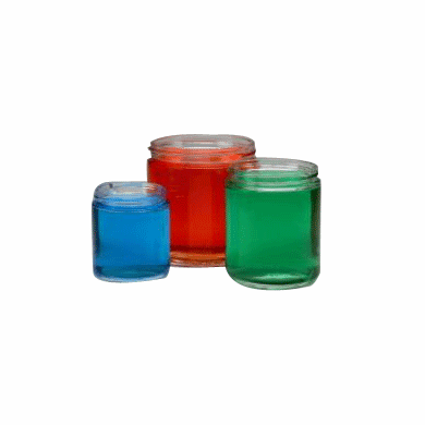 4 oz Straight Sided Glass Jars,Case of 24