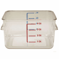 4 Quart Polycarbonate Rubbermaid Square Food Storage Containers