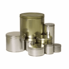 """5 1/4 lb Industrial Slip Cover Cans, 6 1/8"""" x 5"""",96 Case Pack"""