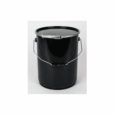 5.4 gallon Open Head with Lever Lock  24/24  Rust-Inhibitor Lining,Black