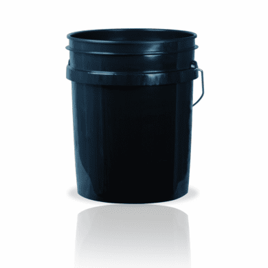 5 Gallon Black Plastic Bucket, 3-pack -