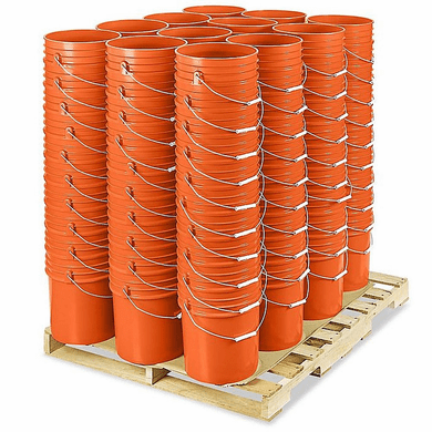 5 Gallon Bucket Bulk ,Orange, Pallet of 120