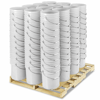 5 Gallon Bucket Bulk ,White, Pallet of 120