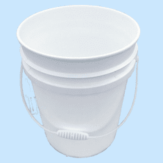 5 Gallon  Bucket Natural Plastic | 3-pack