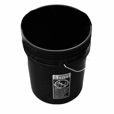 5 Gallon Bucket,Plastic,Black 3 Pack