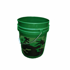 5 Gallon Camo Plastic Bucket, 3-pack