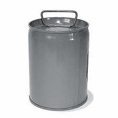 5 Gallon Epoxy Phenolic Lined Tight-Head Steel Pails & Cans, Gray