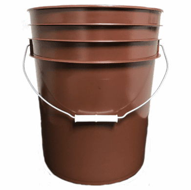 5 Gallon (20L) RUST Plastic Bucket, 3-pack  - Non-UN