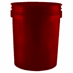 5 Gallon Maroon Plastic Bucket, 3-pack