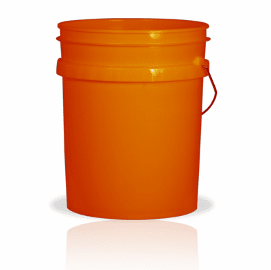 5 Gallon Orange  Plastic Bucket, 3-pack