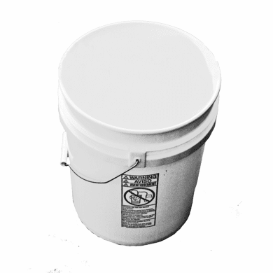 5 Gallon Plastic Bucket Natural-3 Pack