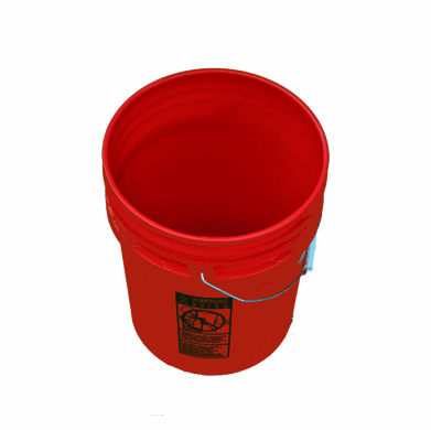 5 Gallon Plastic Bucket Red 3 Pack