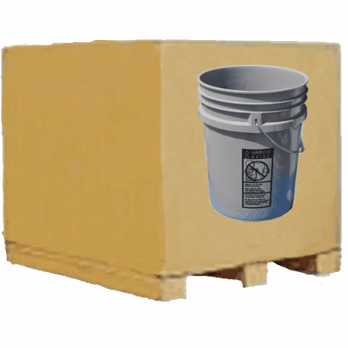 5 Gallon Plastic Buckets, Pallet Of 120, Gray ~SOLD OUT~
