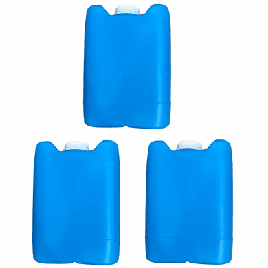 "5 Gallon Plastic Jug Closed-Head with 70mm Cap | Blue Color | 3 Pack <br/><font color=""red"">Free Ship</font>"