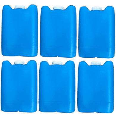 """5 Gallon Plastic Jug Closed-Head with 70mm Cap   Blue Color   6 Pack <br/><font color=""""red"""">Free Ship</font>"""