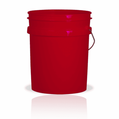 5 Gallon Red Plastic Bucket, 3-pack