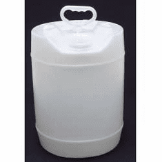 5 Gallon Round Closed-Head Plastic Jugs, with Screw Cap,Natural