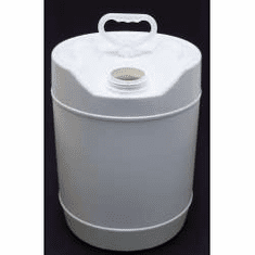 5 Gallon Round Closed-Head Plastic Jugs,with Screw Cap,White