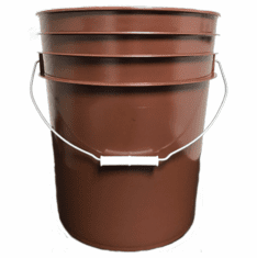 5 Gallon RUST Plastic Bucket, 3-pack