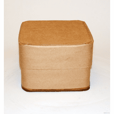 5 Gallon Square All-Fiber Corrugated Cardboard Drum With Corrugated Cardboard Lid