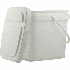 5 Gallon Square Ez Stor® Bucket Pail and lid,  w/handle, 6 Pack | Included Reclosable Lids