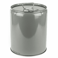 5 Gallon Steel Pail, Closed Head, Lined, With  Flexspout� Opening - Gray