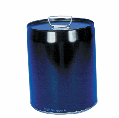 5 Gallon Unlined  Rust-Inhibitor Tight-Head Steel Pails & Cans, Black