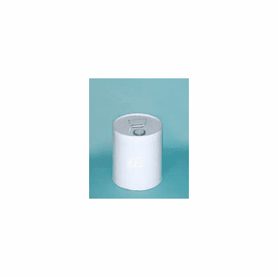 5 Gallon Unlined Rust-Inhibitor Tight-Head Steel Pails & Cans, White