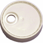 5 Gallon White Bucket Lid with 70 mm Opening Cap