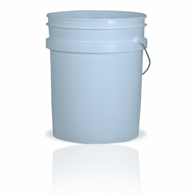 5 Gallon White Plastic Bucket, 3-pack