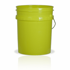 5 Gallon Yellow Plastic Bucket, 3-pack