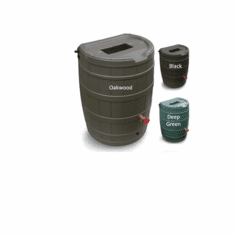 50 Gallon Flat Back Rain Barrel
