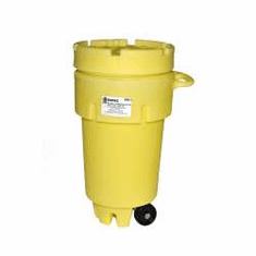 50 Gallon Wheeled Plastic Salvage Drums
