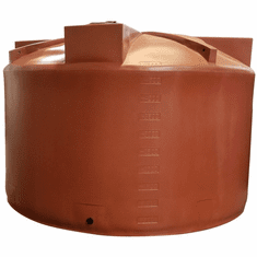 5000 Gallon Plastic Rain Water Storage Tank|Rainwater Harvesting|Short|140�D x 92�H
