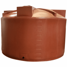 "5000 Gallon Plastic Water Storage Tank Short|Long-Term Water Storage|Short|Dimensions: 140"" Diameter x 92"" Height"