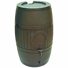 "54 Gallon Rain Saver Water Barrel, Moss Green Color, <Font color=""red""> Free Shipping!</font>"