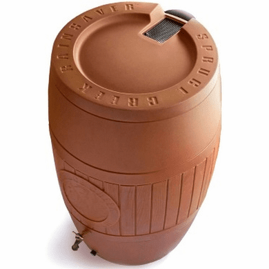 "54 Gallon Rain Saver Water Barrel,Terracotta Color<Font color=""red""> Free Shipping!</font>"