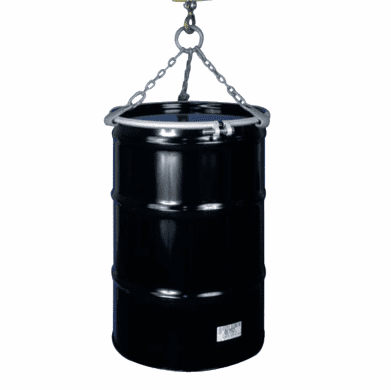 55 and 85 Gallon - 3 Chain Sling Lifts Drum Vertically