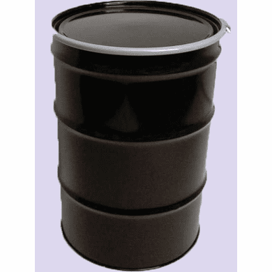 55 Gal Steel Drum Open-Head-Black -Rust Inhibitor Lining