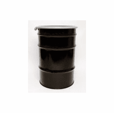 55 Gal Steel Drum Open-Head-Black With Bungs-Rust Inhibitor Lining
