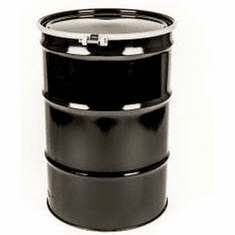 55 Gal Steel Drum Open-Head | Plain Top | With Bolt Ring Or Lever Lock Lid | Rust Inhibitor Lining.