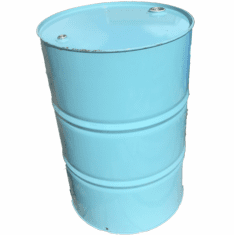55 Gal Steel Turquoise Drum | Closed Head | New Factory Second
