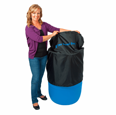 55 Gallon Barrel Bag Cover, Black, Free Shipping