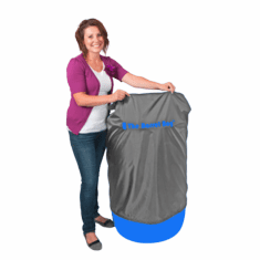 55 Gallon Barrel Bag Cover, Grey, Free Shipping