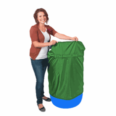 55 Gallon Barrel Bag Cover, Heavy Duty, Green, Free Shipping