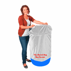 55 Gallon Barrel Bag Cover, Heavy Duty, White, Free Shipping