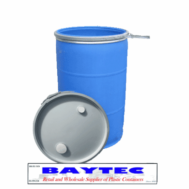 """55 Gallon Drum Plastic  Food-Grade  Reconditioned  Open-head <font Color=""""#008000"""" Face=""""rockwell Bold"""" Size=""""2"""">this Item Ships For  Free!</font>"""