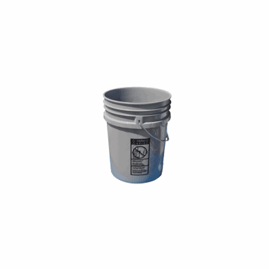 5 Gallon Gray Bucket 3 pack