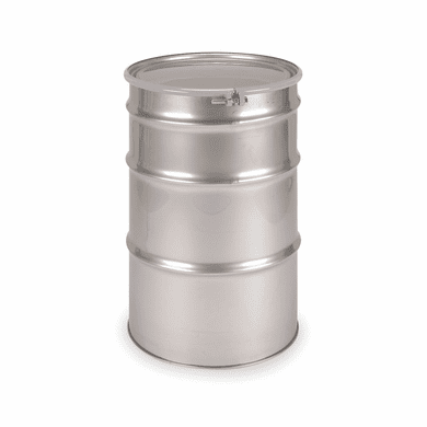 55 Gallon Open Head Stainless Steel Drums