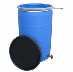 """55 Gallon Open Top Barrel w/Bulkhead Fitting and Faucet<strong><font color=""""#FF0000""""> Free Shipping</font></strong>"""
